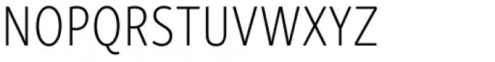 Skolar Sans PE Compressed ExtraLight Font UPPERCASE