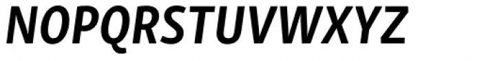 Skolar Sans PE Condensed Bold Italic Font UPPERCASE