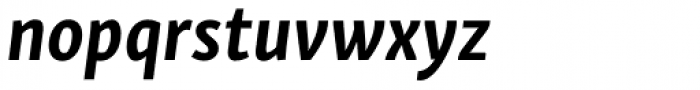Skolar Sans PE Condensed Bold Italic Font LOWERCASE