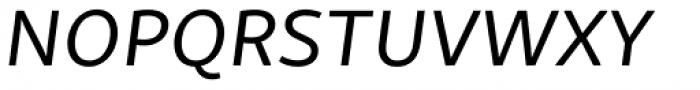 Skolar Sans PE Extended Italic Font UPPERCASE