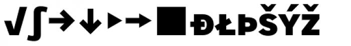 Skopex Gothic Black Caps Expert Font LOWERCASE
