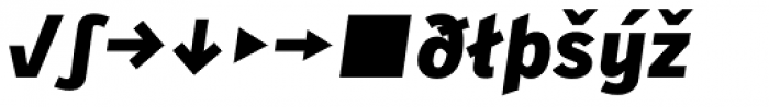 Skopex Gothic Black Italic Expert Font LOWERCASE
