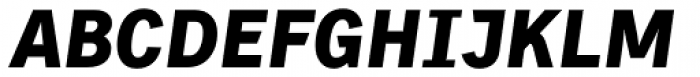 Skopex Gothic Black Italic TF Font UPPERCASE