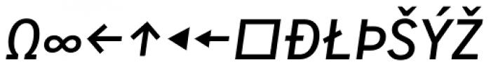 Skopex Gothic Med Italic Caps Expert Font UPPERCASE