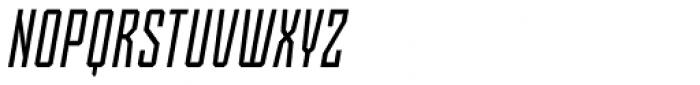 Skorid Regular Italic Font UPPERCASE