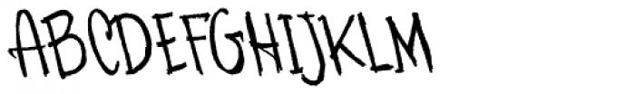 Skratchbook Back Italic Font UPPERCASE