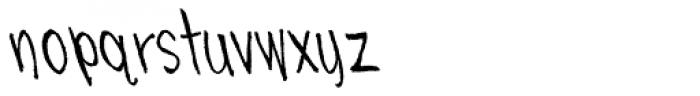 Skratchbook Back Italic Font LOWERCASE