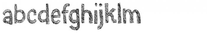 Skratzy Font LOWERCASE