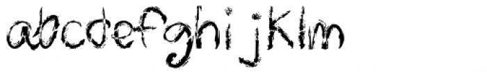Skrawl Font LOWERCASE
