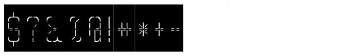 Skrean Light Negative Font OTHER CHARS