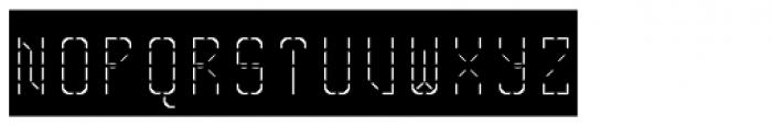 Skrean Light Negative Font UPPERCASE