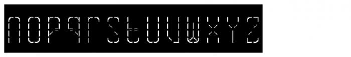Skrean Light Negative Font LOWERCASE