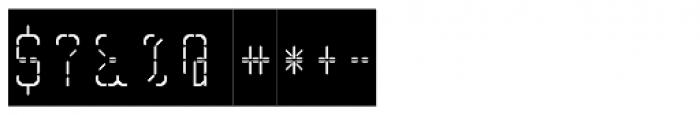 Skrean Negative Font OTHER CHARS