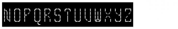 Skrean Negative Font UPPERCASE