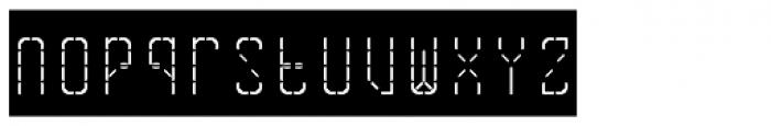 Skrean Negative Font LOWERCASE