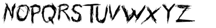 Skribler Font UPPERCASE