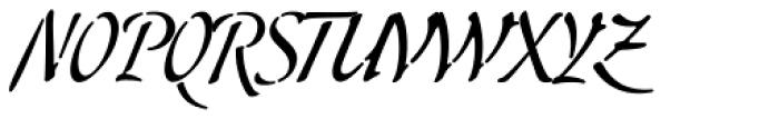 Skript Font UPPERCASE
