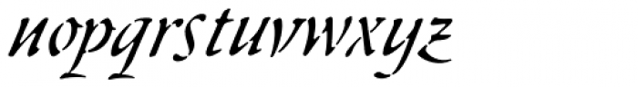 Skript Font LOWERCASE