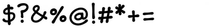 Skriva Bold Font OTHER CHARS