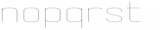 Skuair Wide Thin Font LOWERCASE