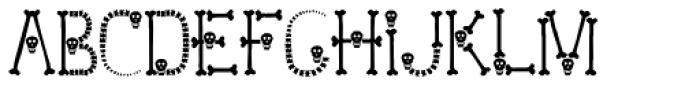 Skull and Bones Font UPPERCASE