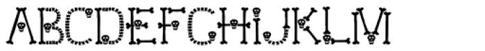 Skull and Bones Font LOWERCASE