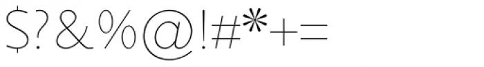 Sky Sans Light Font OTHER CHARS