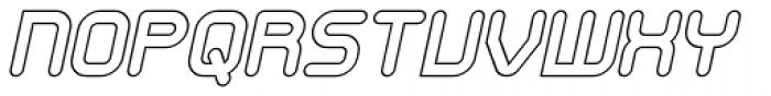 SkyWing Outline Italic Font UPPERCASE