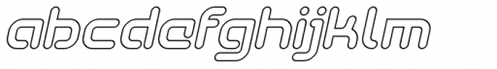 SkyWing Outline Italic Font LOWERCASE
