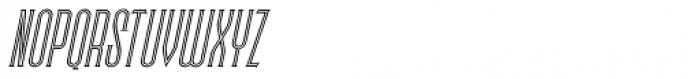 Skyward Serif Oblique Inline Font UPPERCASE