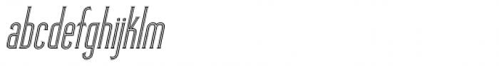 Skyward Serif Oblique Inline Font LOWERCASE