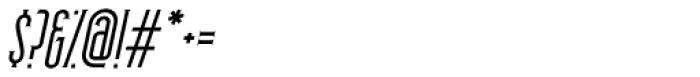 Skyward Serif Oblique Font OTHER CHARS