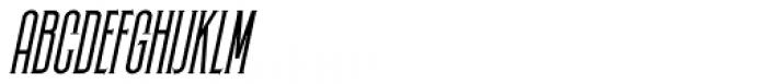 Skyward Serif Oblique Font UPPERCASE