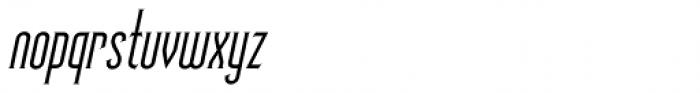 Skyward Serif Oblique Font LOWERCASE