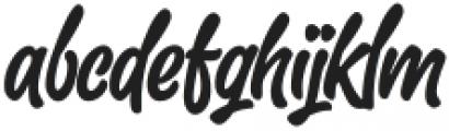 SlackerBrush-Regular otf (400) Font LOWERCASE