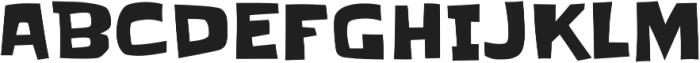Slackey Pro Regular otf (400) Font UPPERCASE