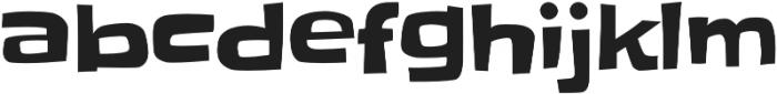 Slackey Pro Regular otf (400) Font LOWERCASE