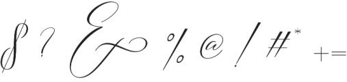 Slavelake Regular otf (400) Font OTHER CHARS