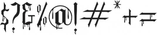 Slayer creeper alternate otf (400) Font OTHER CHARS