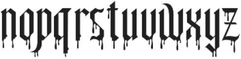 Slayer creeper alternate otf (400) Font LOWERCASE
