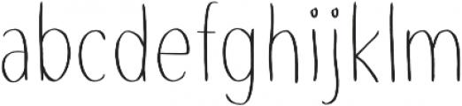 Slenderz Light otf (300) Font LOWERCASE
