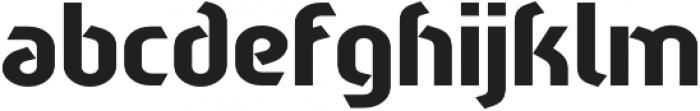 Sliced Down otf (400) Font LOWERCASE