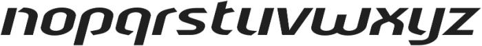 Sliced Open Wide Tilted otf (400) Font LOWERCASE