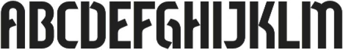 Sliced Regular otf (400) Font UPPERCASE