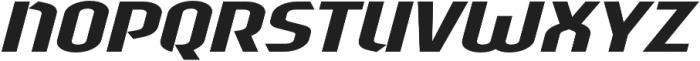 Sliced Wide Tilted otf (400) Font UPPERCASE