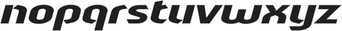 Sliced Wide Tilted otf (400) Font LOWERCASE