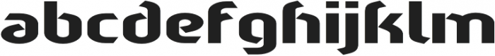 Sliced Wide otf (400) Font LOWERCASE