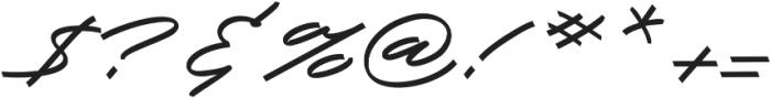 Slidingline Script Regular otf (400) Font OTHER CHARS