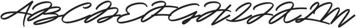 Slidingline Script Regular otf (400) Font UPPERCASE