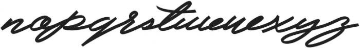 Slidingline Script Regular otf (400) Font LOWERCASE